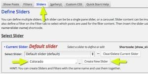 Define New Slider
