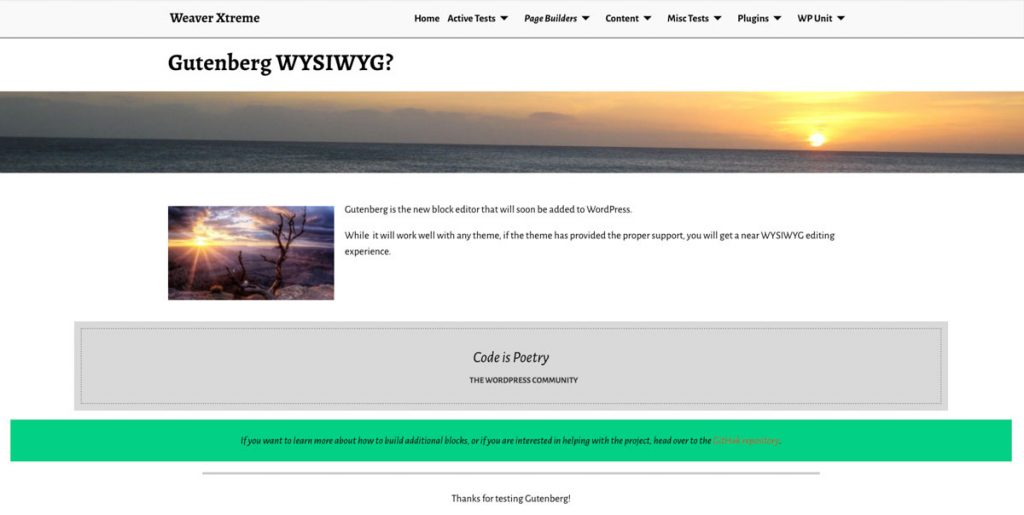 Make Your WordPress Theme Fully Compatible with Gutenberg - Weaver